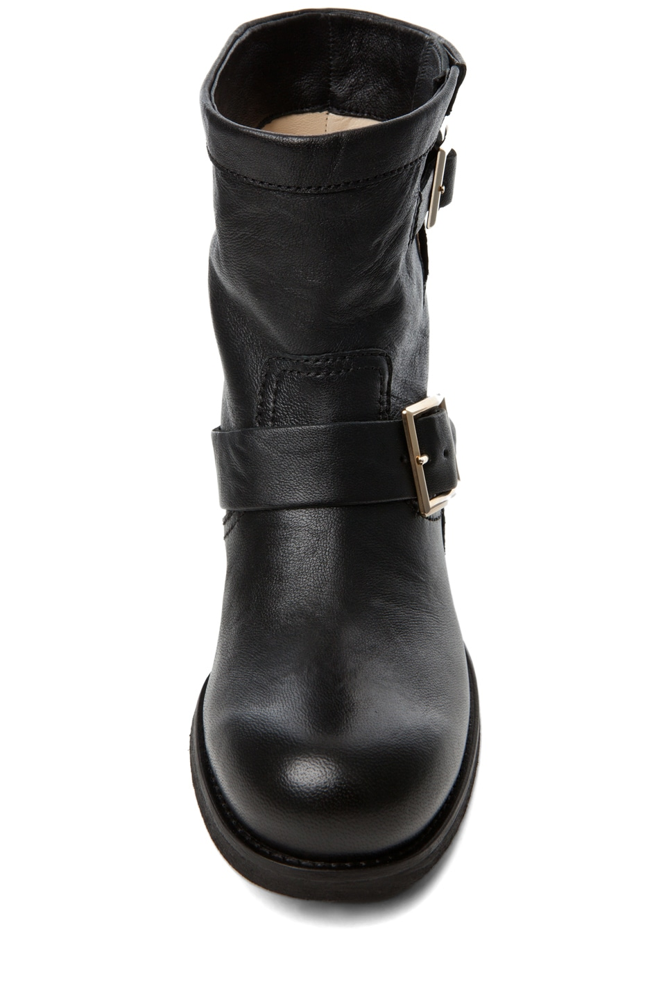 Image 4 of Jimmy Choo Youth Low Biker Boot in Black