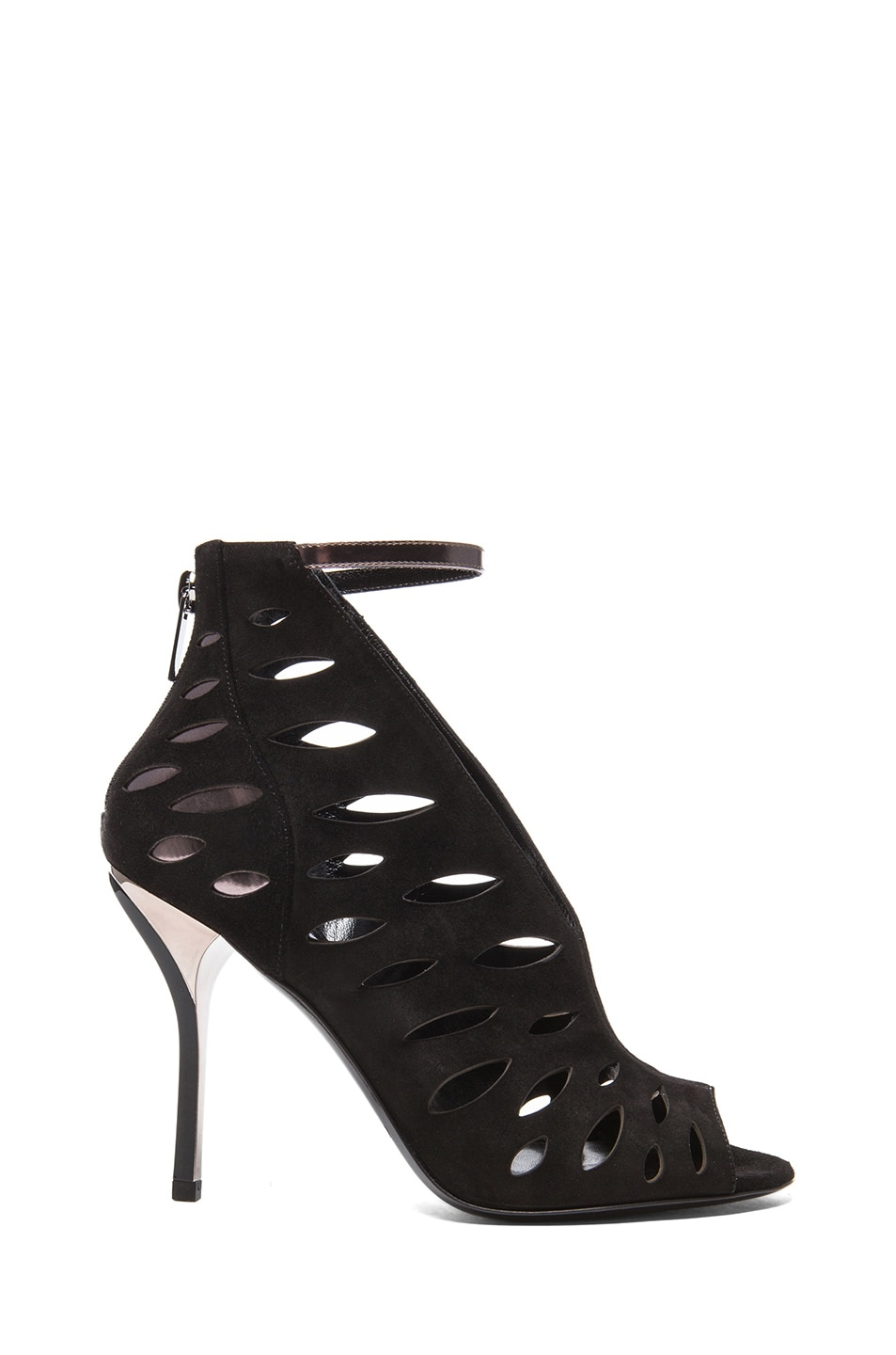 Image 1 of Jimmy Choo Tamera Suede Heeled Sandals in Black & Anthracite