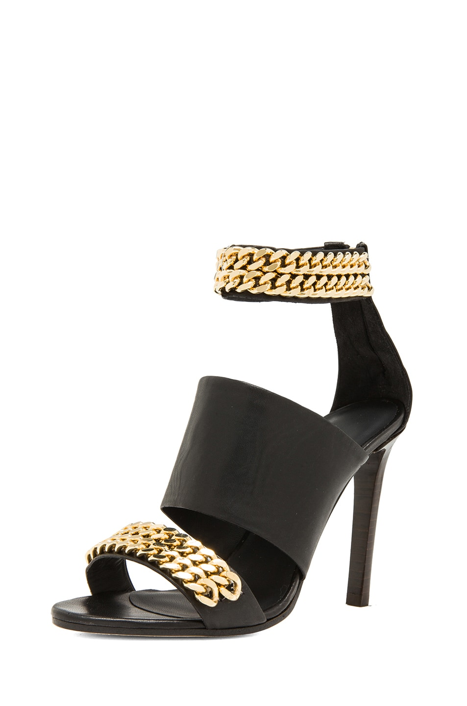 Image 2 of Jenni Kayne Chain High Sandals in Black