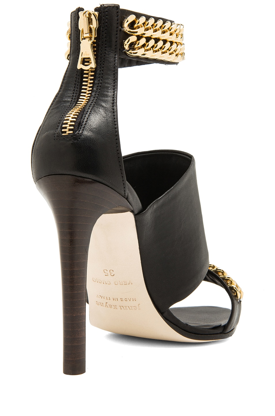 Image 3 of Jenni Kayne Chain High Sandals in Black