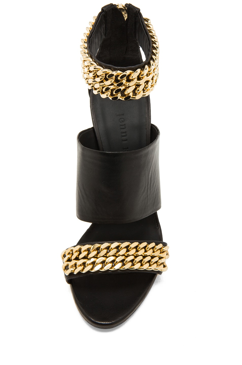 Image 4 of Jenni Kayne Chain High Sandals in Black