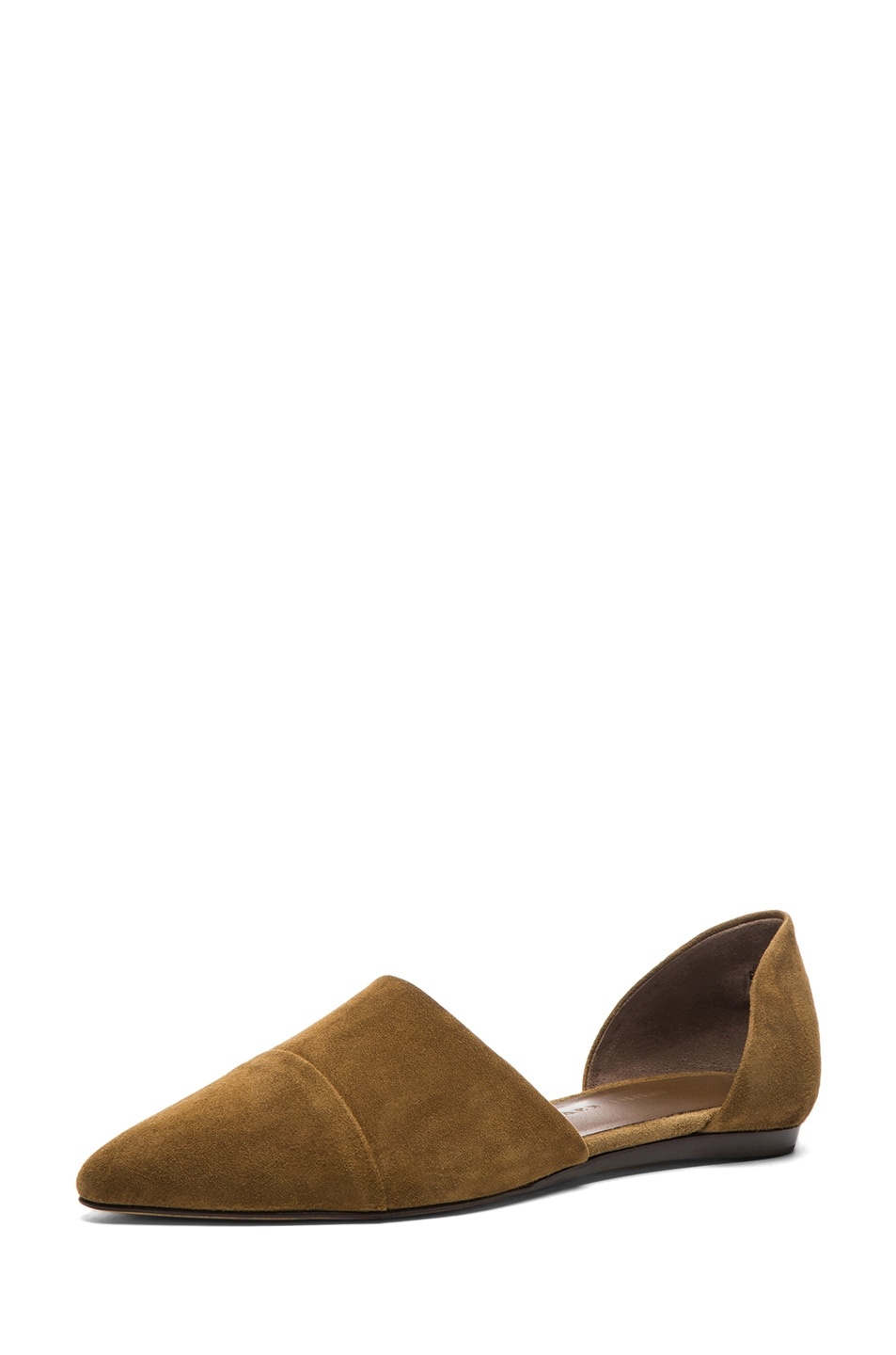 Image 2 of Jenni Kayne D'orsay Suede Flat in Bark