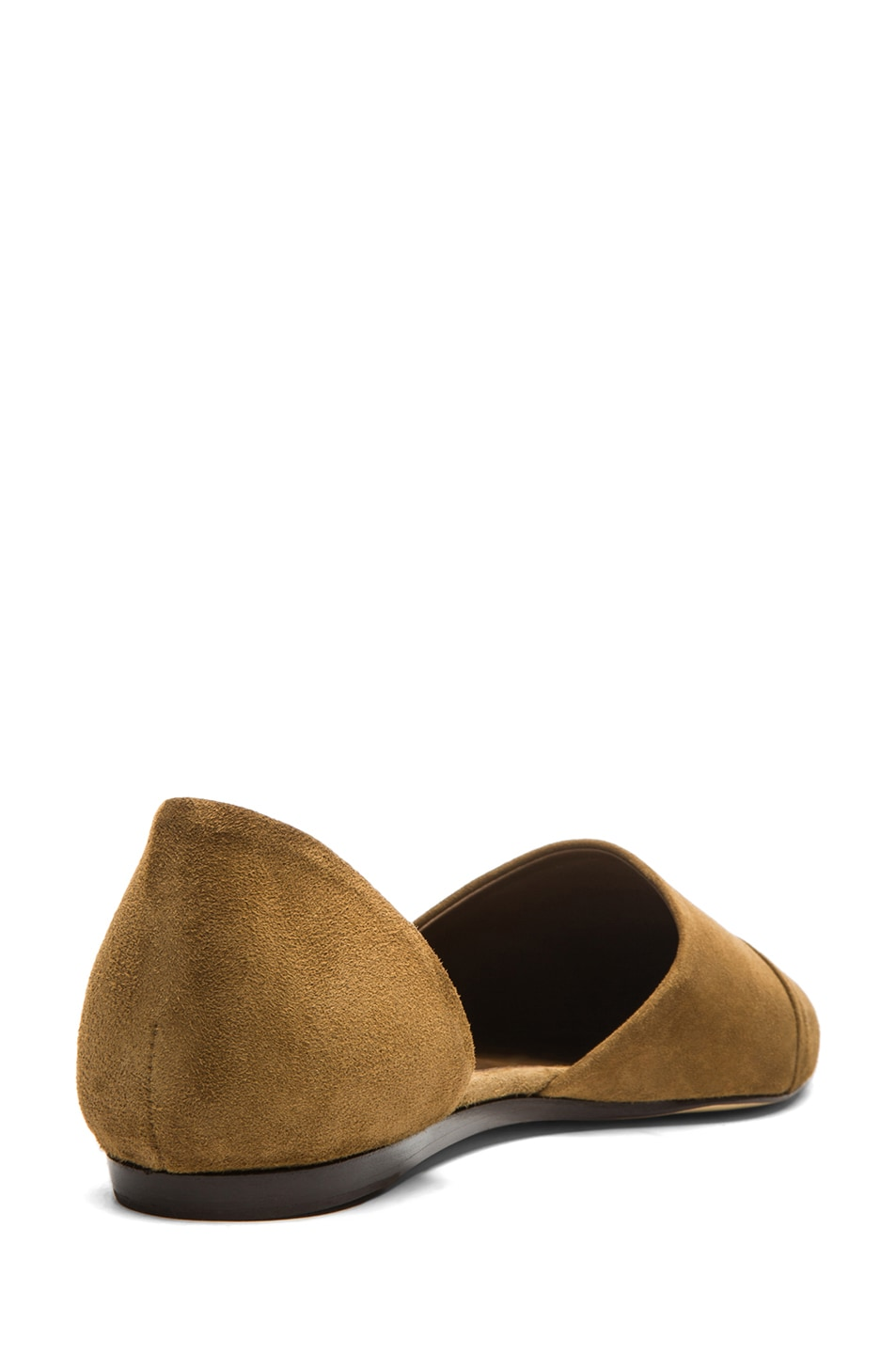Image 3 of Jenni Kayne D'orsay Suede Flat in Bark