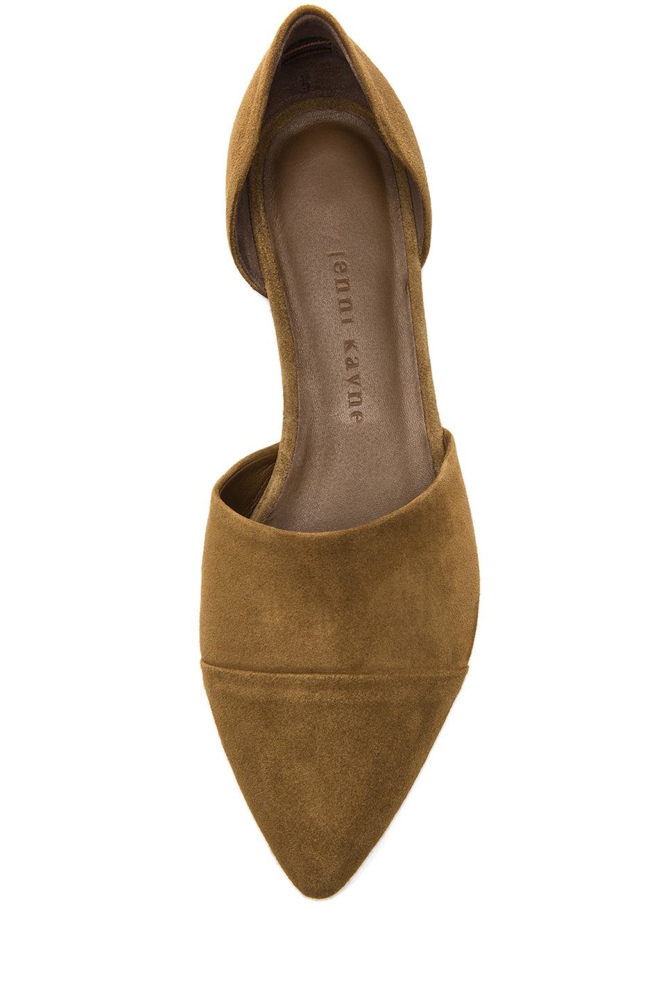 Image 4 of Jenni Kayne D'orsay Suede Flat in Bark