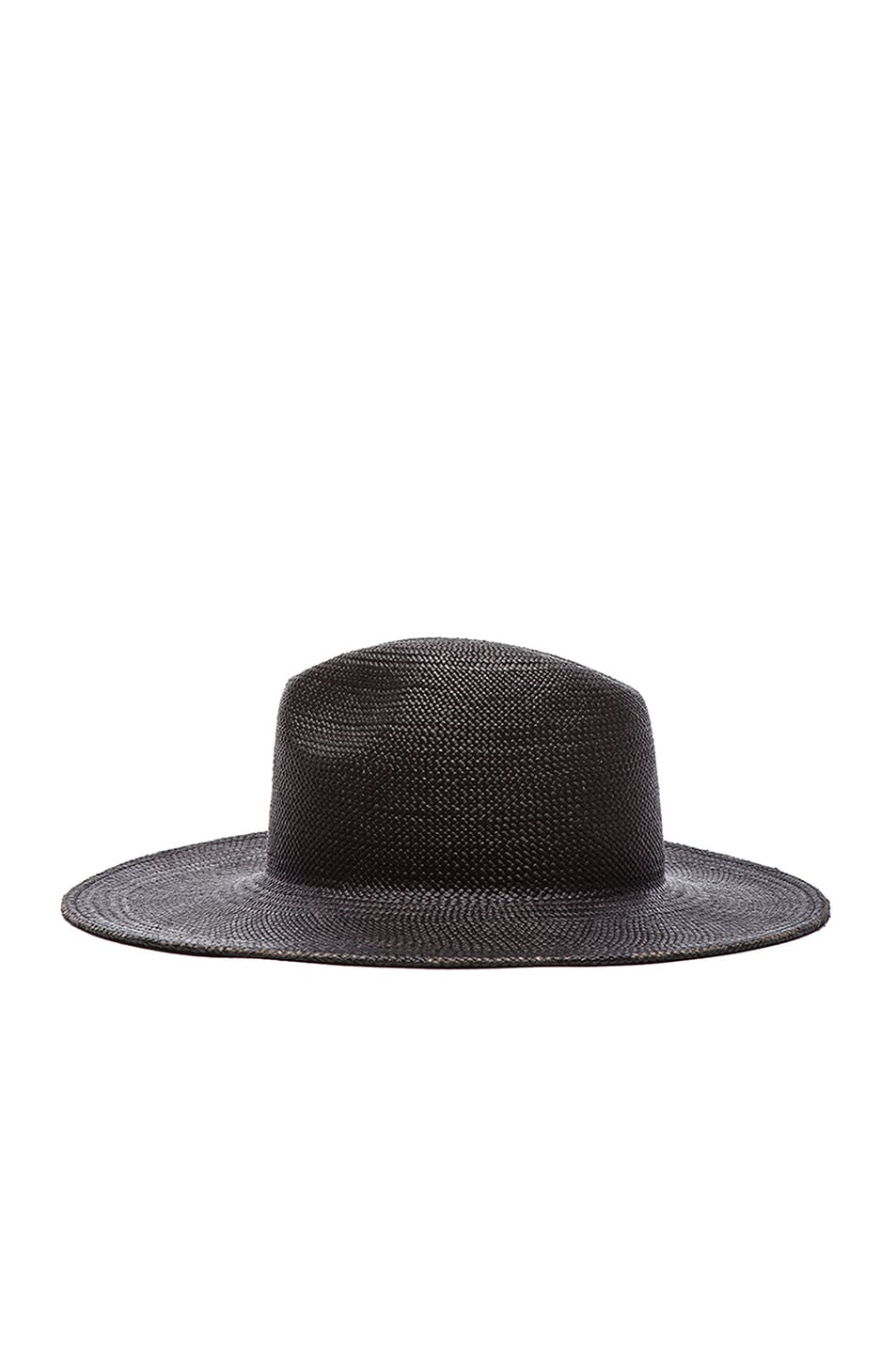 Image 4 of Janessa Leone Rita Straw Hat in Black