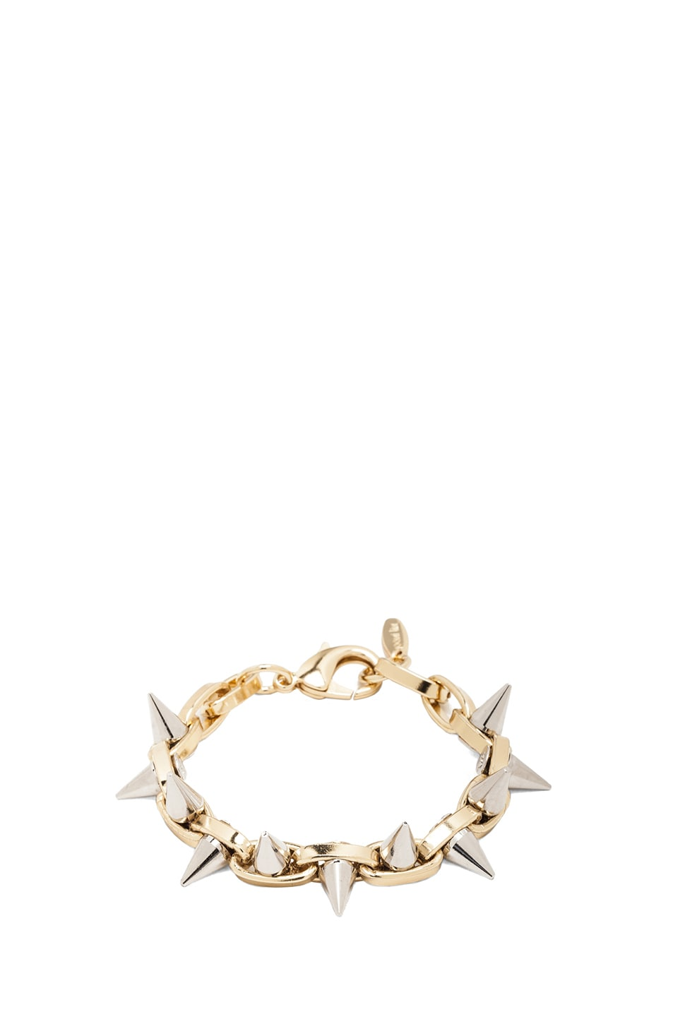 Image 1 of JOOMI LIM Double Row Spike Bracelet in Gold & Rhodium