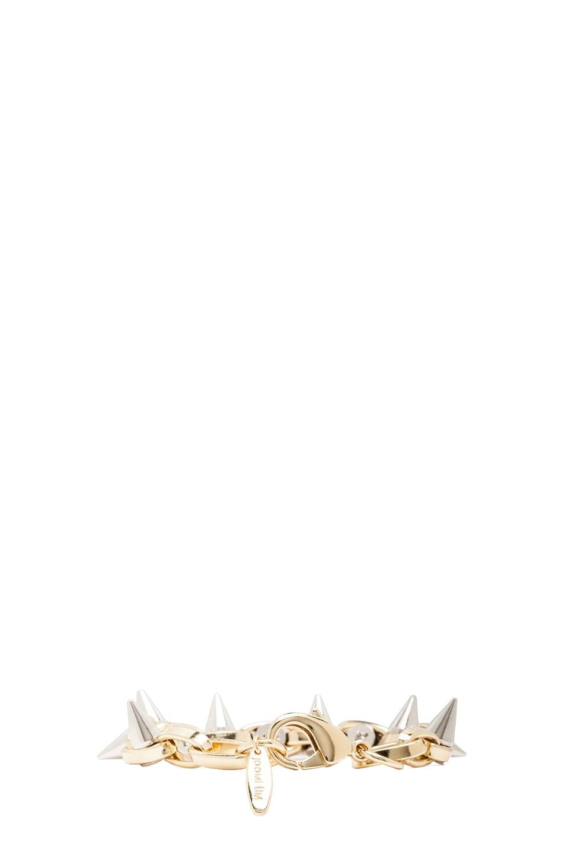 Image 3 of JOOMI LIM Double Row Spike Bracelet in Gold & Rhodium