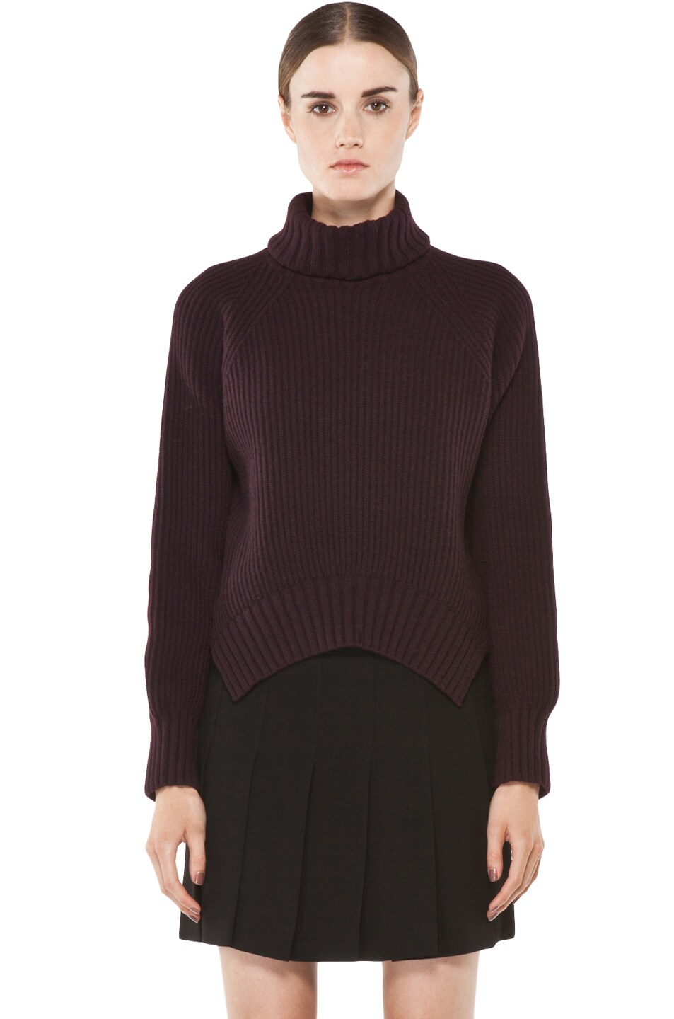 Image 1 of Joseph Grunge Sweater in Burgundy