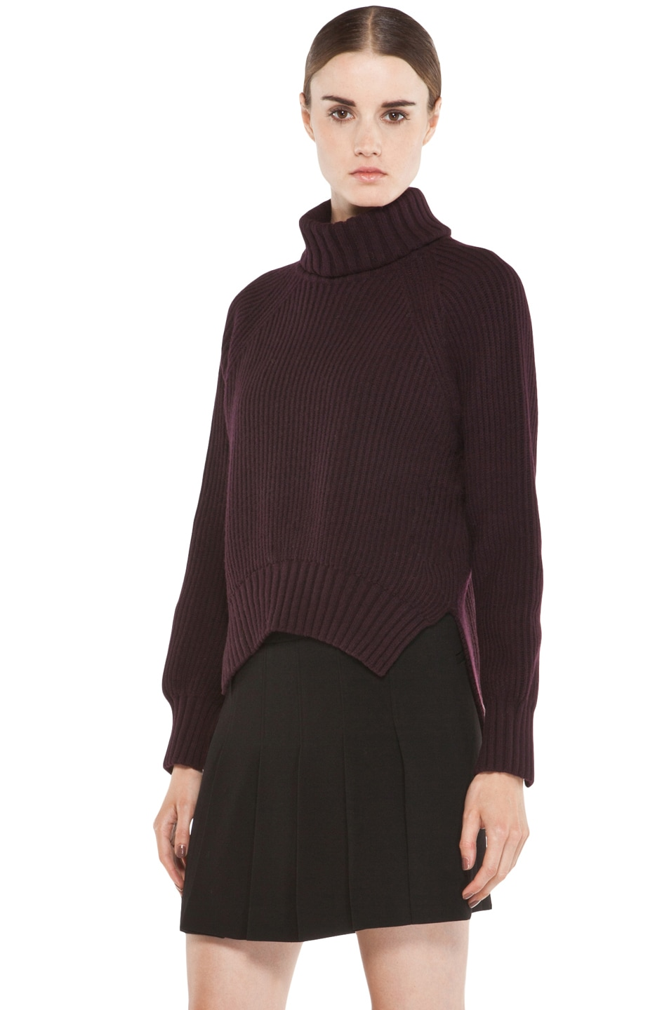 Image 2 of Joseph Grunge Sweater in Burgundy