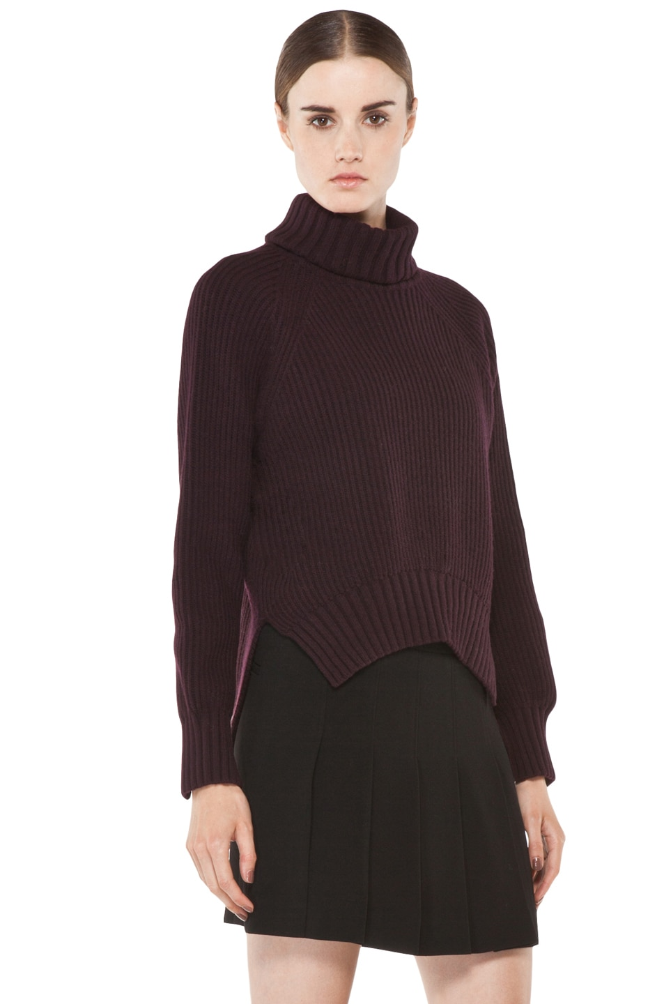 Image 3 of Joseph Grunge Sweater in Burgundy