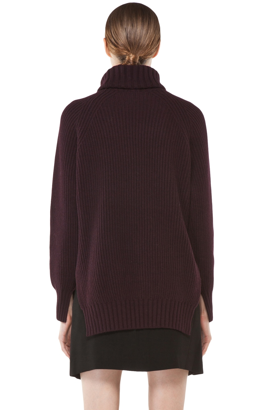 Image 4 of Joseph Grunge Sweater in Burgundy