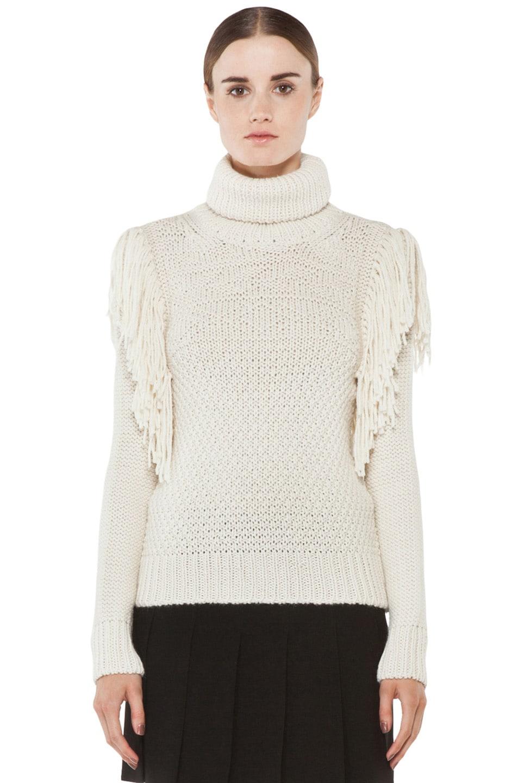 Image 1 of Joseph Texture Knit Sweater in Ecru