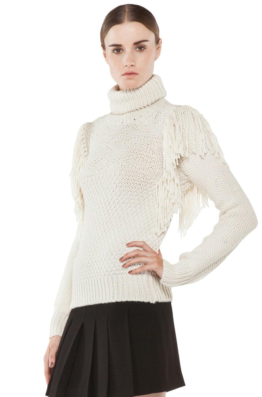 Image 2 of Joseph Texture Knit Sweater in Ecru