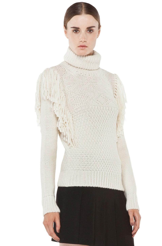 Image 3 of Joseph Texture Knit Sweater in Ecru