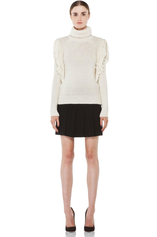Image 5 of Joseph Texture Knit Sweater in Ecru