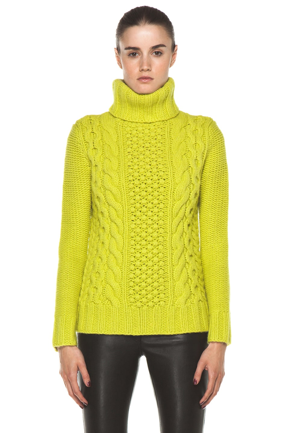 Image 1 of Joseph Cable Sweater in Lime