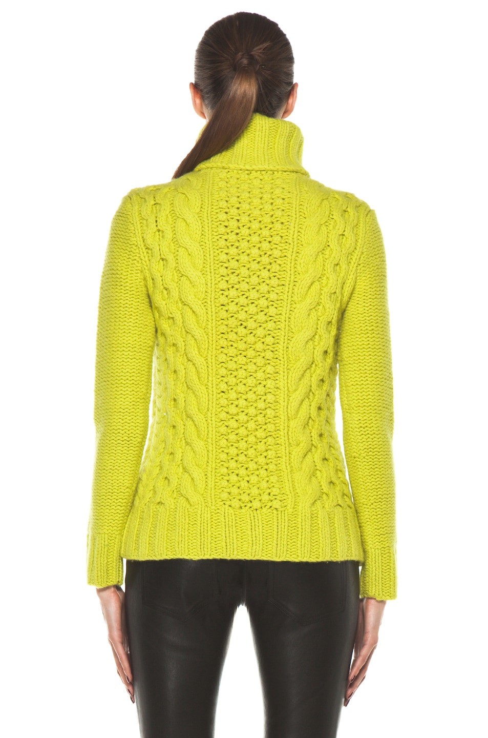 Image 4 of Joseph Cable Sweater in Lime