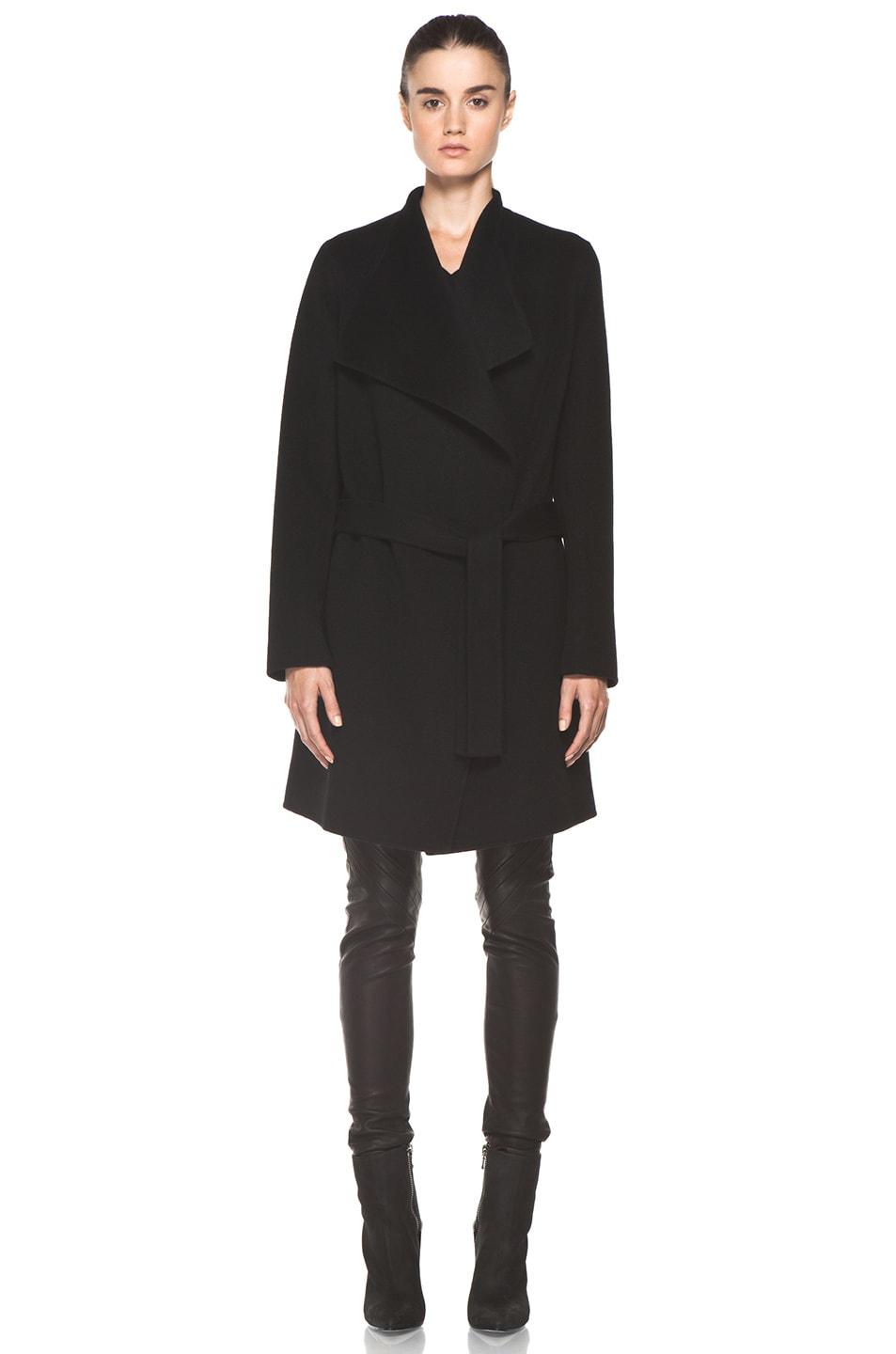 Image 2 of Joseph Lisa Cashmere Double Face Coat in Black
