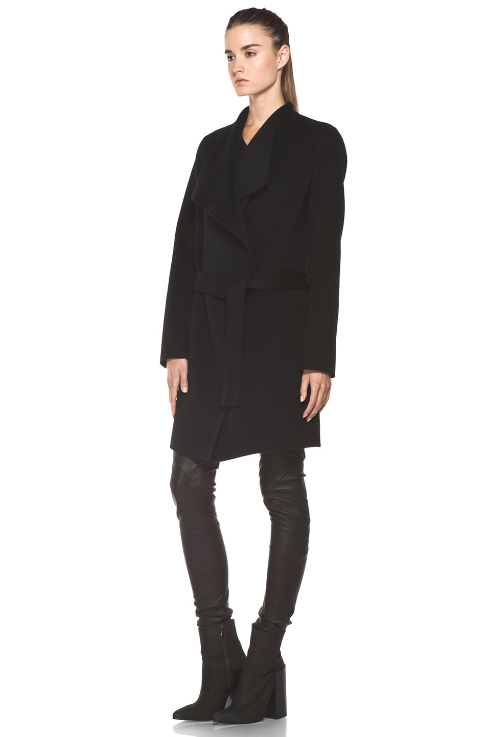 Image 3 of Joseph Lisa Cashmere Double Face Coat in Black