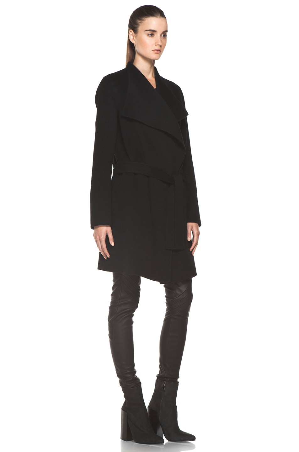 Image 4 of Joseph Lisa Cashmere Double Face Coat in Black