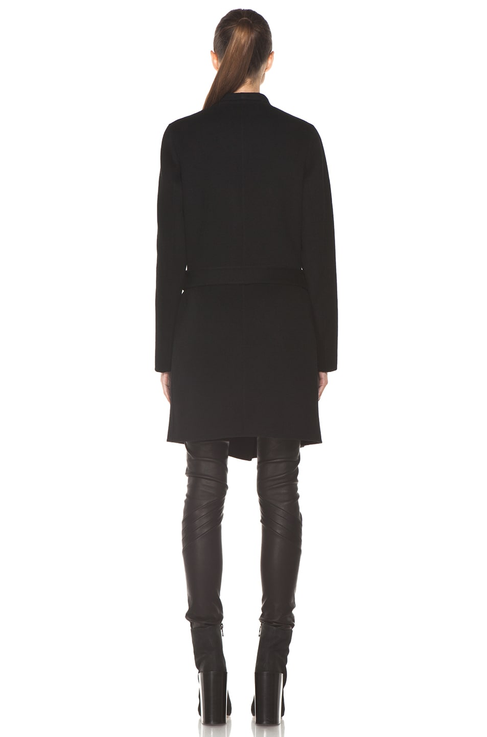 Image 5 of Joseph Lisa Cashmere Double Face Coat in Black