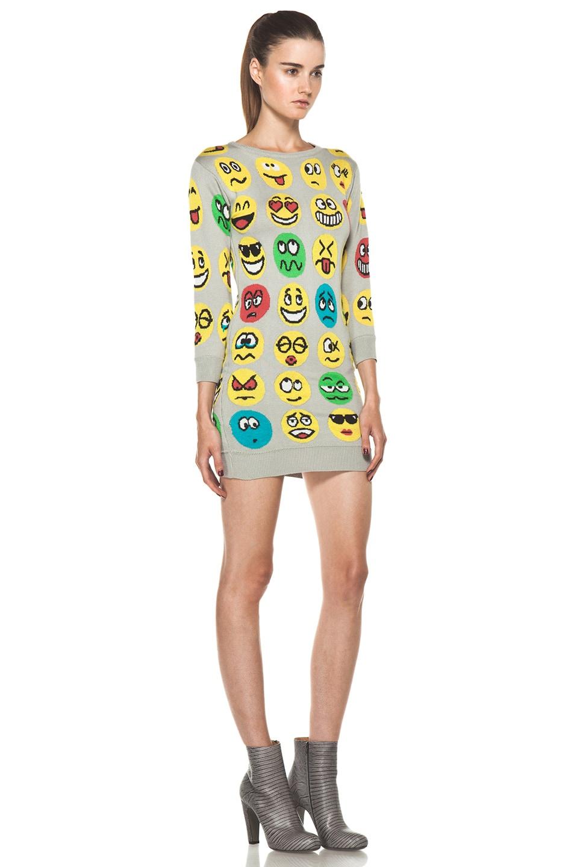 Image 3 of Jeremy Scott Knit Dress in Emoticon