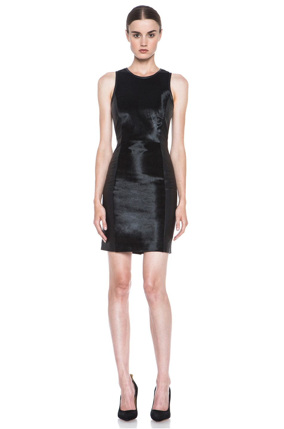 Image 1 of JONATHAN SIMKHAI Leather Dress in Black