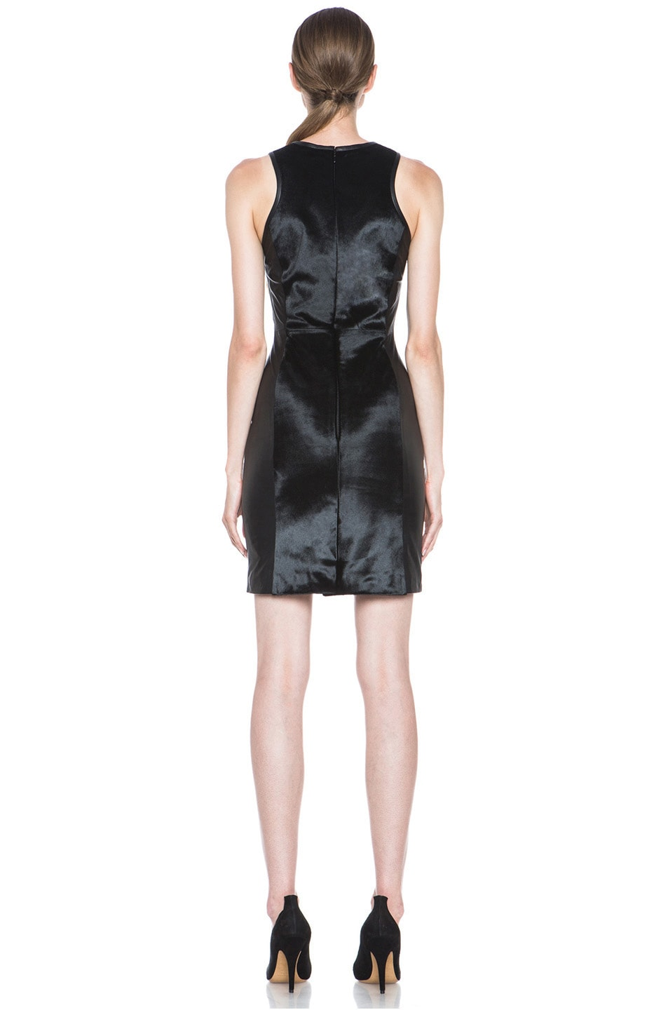 Image 4 of JONATHAN SIMKHAI Leather Dress in Black