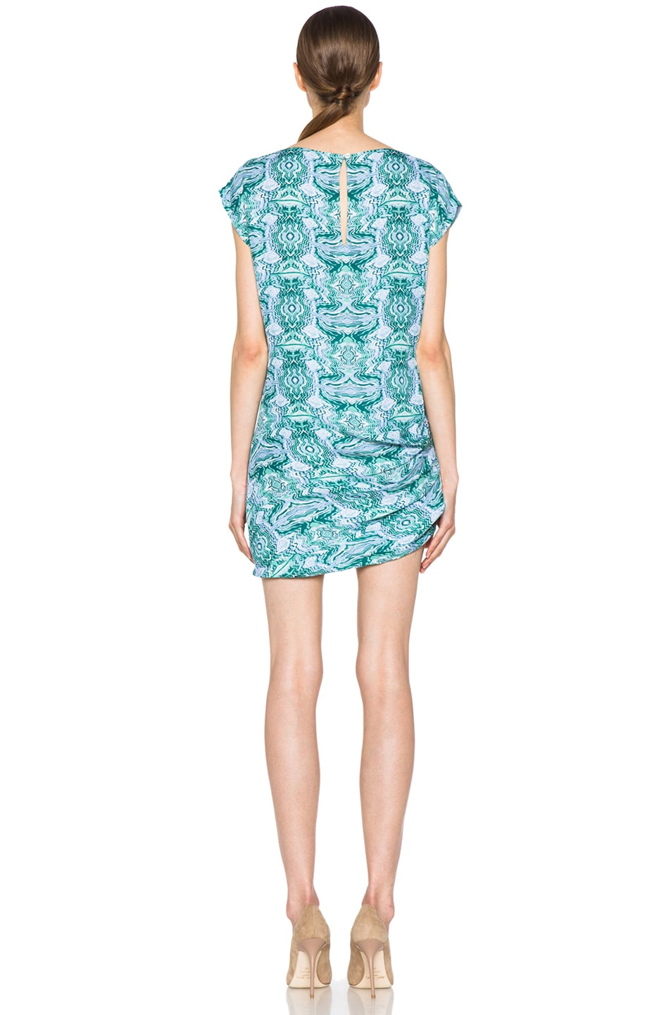 Image 4 of Kelly Wearstler Mirror Print Cocoon Dress in Blue Multi