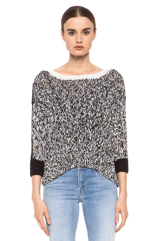 Image 1 of Kelly Wearstler Sulfate Sweater in Black & Ivory