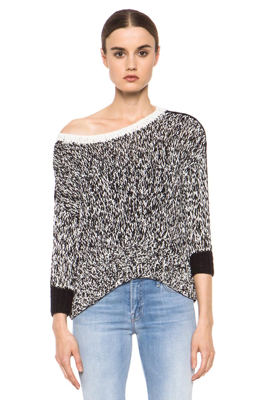 Image 2 of Kelly Wearstler Sulfate Sweater in Black & Ivory