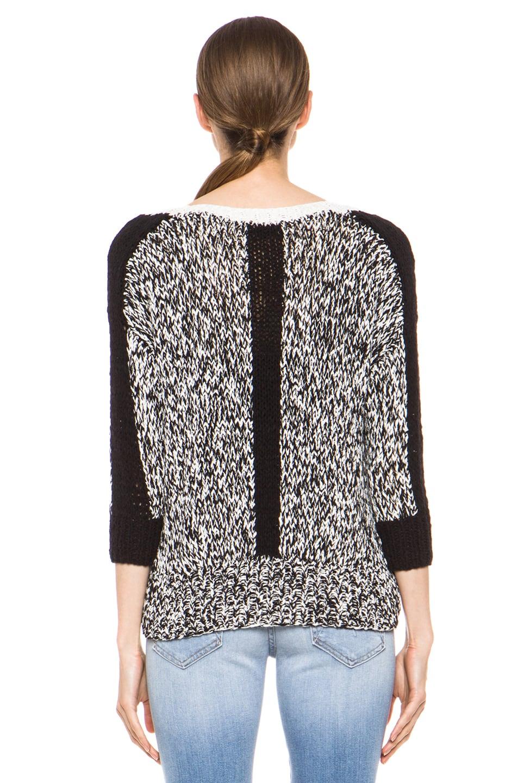 Image 5 of Kelly Wearstler Sulfate Sweater in Black & Ivory