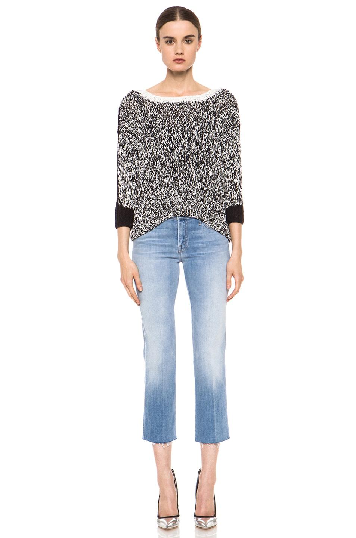 Image 6 of Kelly Wearstler Sulfate Sweater in Black & Ivory