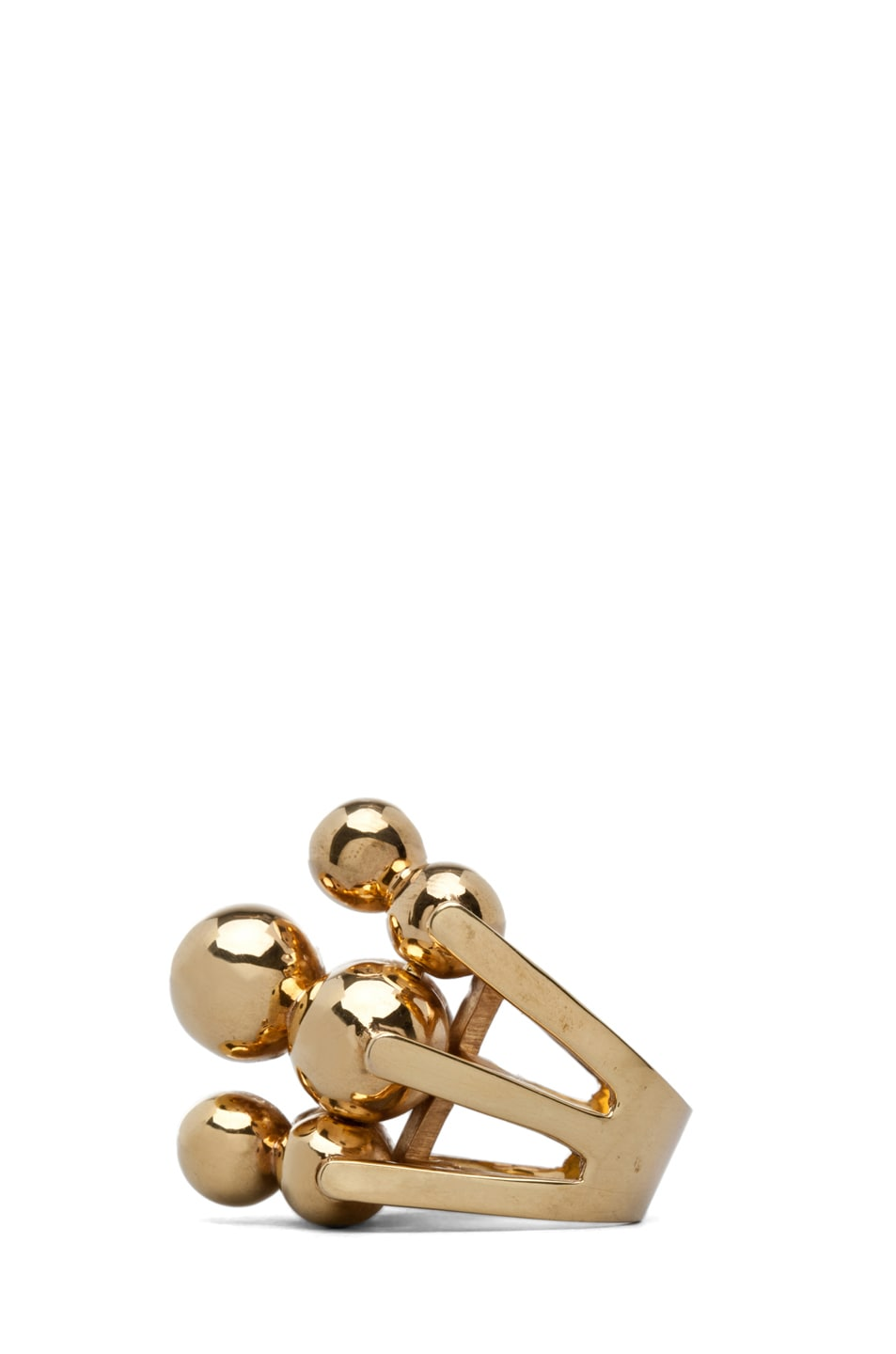 Image 2 of Kelly Wearstler Cluster Ring Plated Brass in Gold