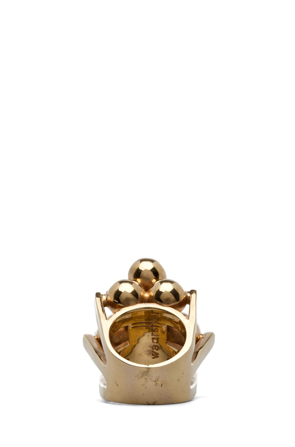 Image 3 of Kelly Wearstler Cluster Ring Plated Brass in Gold