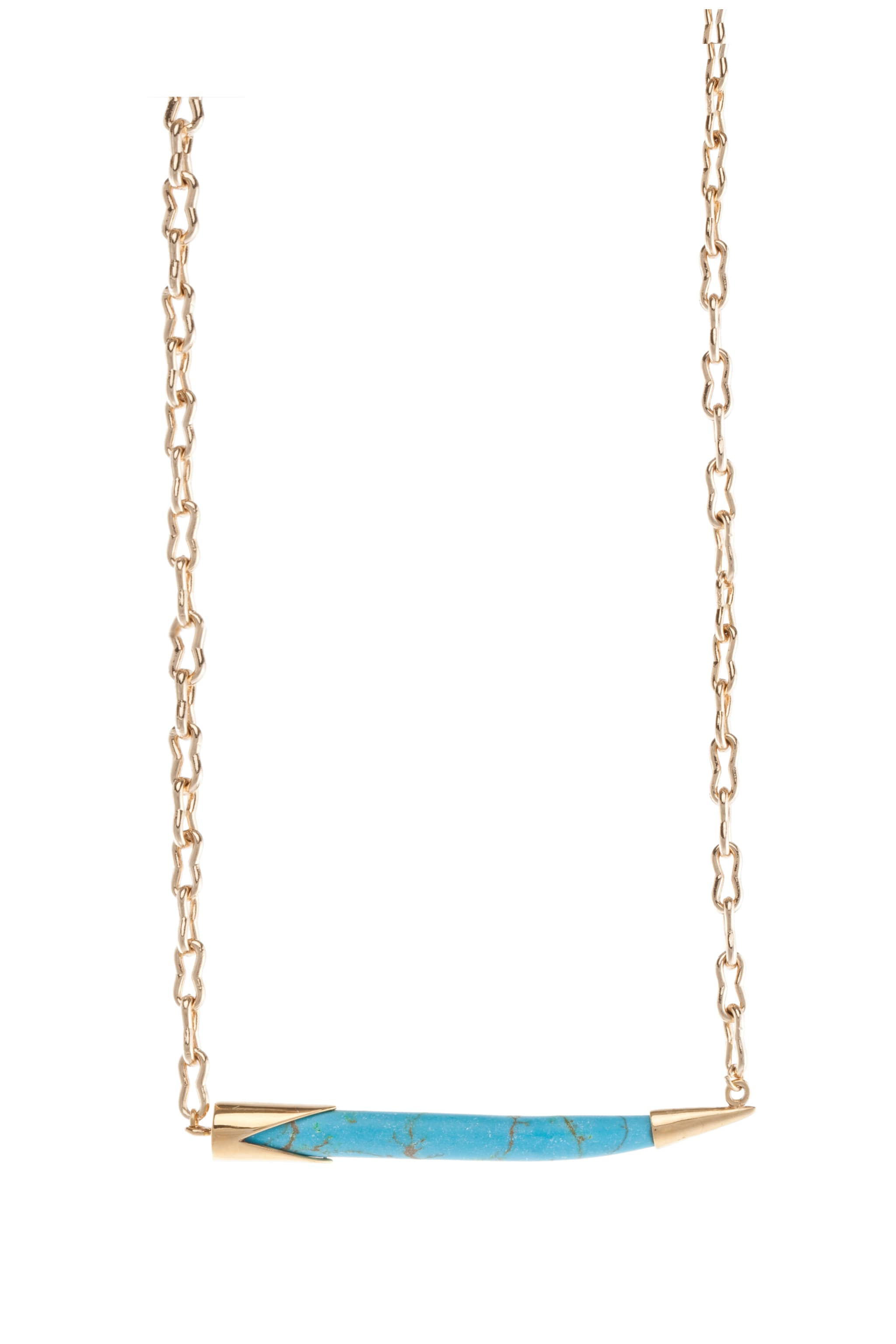 Image 2 of Kelly Wearstler Sideways Horn Necklace in Turquoise