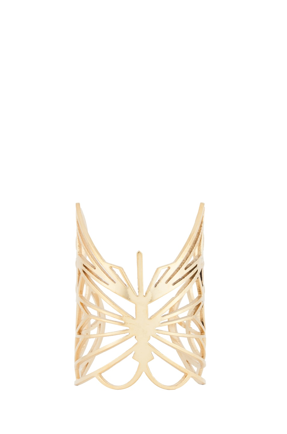 Image 1 of Kelly Wearstler Curiosity Butterfly Cuff in Gold Plated