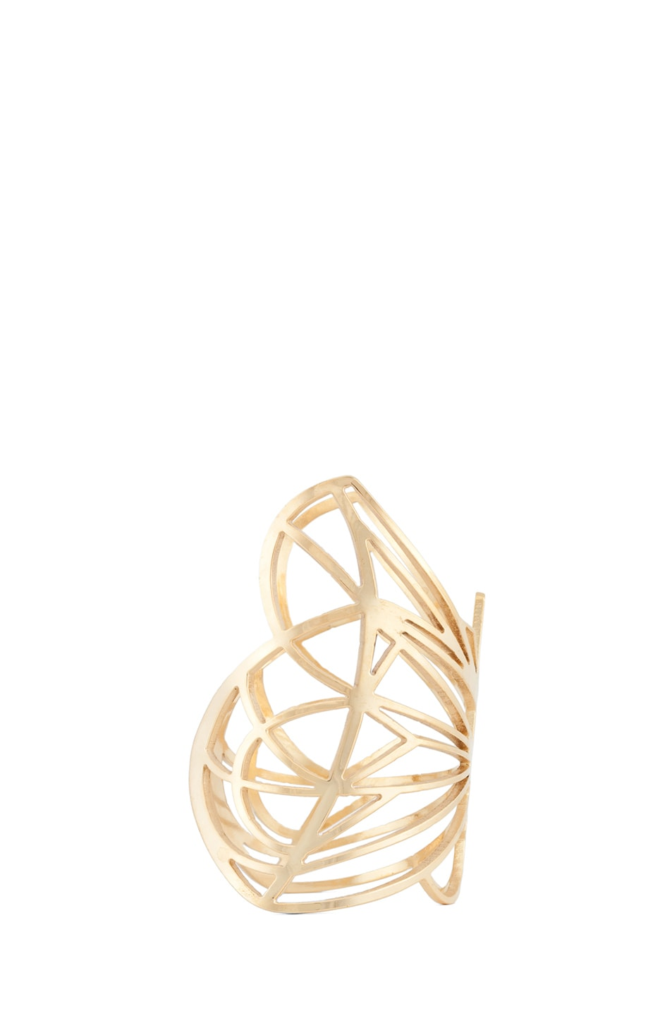 Image 2 of Kelly Wearstler Curiosity Butterfly Cuff in Gold Plated