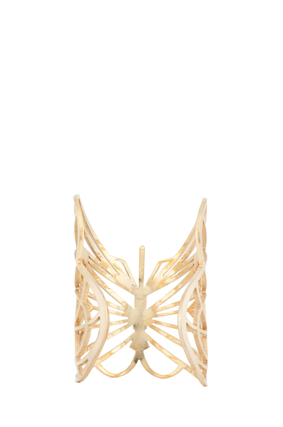 Image 3 of Kelly Wearstler Curiosity Butterfly Cuff in Gold Plated