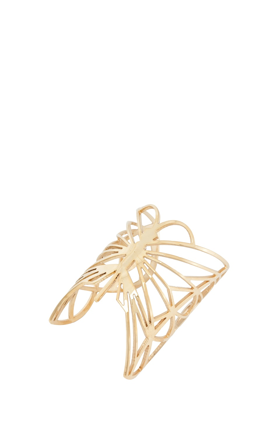 Image 4 of Kelly Wearstler Curiosity Butterfly Cuff in Gold Plated
