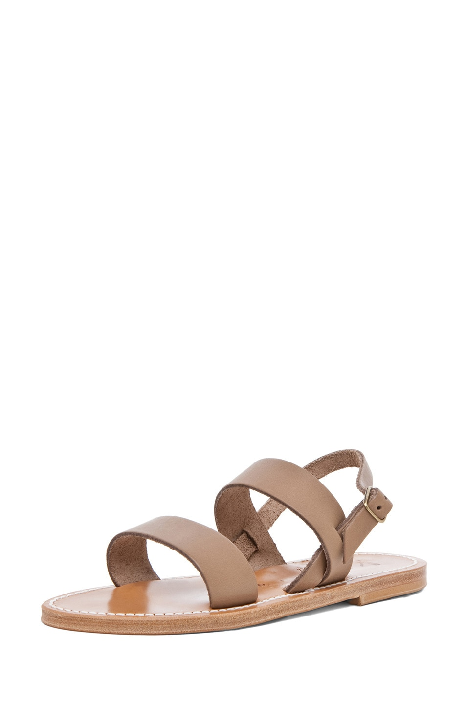Image 2 of K Jacques Barigoule Thick Strap Sandal in Taupe