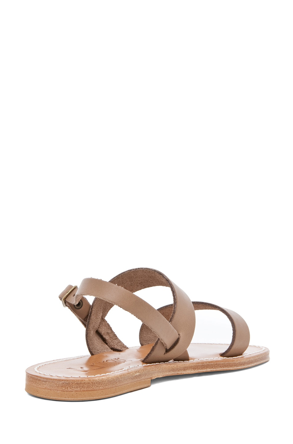 Image 3 of K Jacques Barigoule Thick Strap Sandal in Taupe