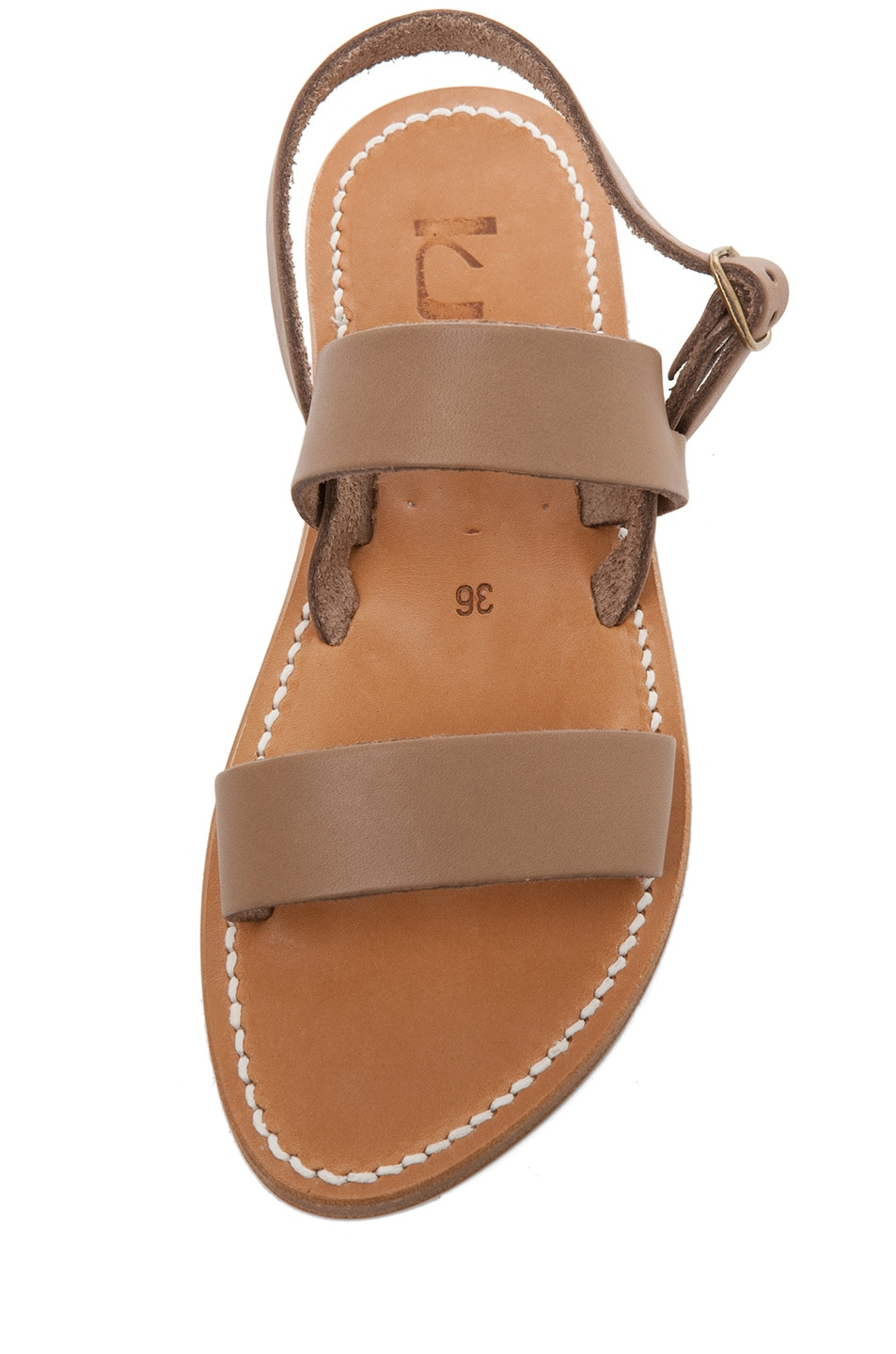 Image 4 of K Jacques Barigoule Thick Strap Sandal in Taupe