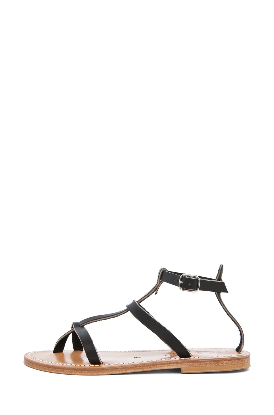 Image 1 of K Jacques Gina Gladiator Sandal in Black