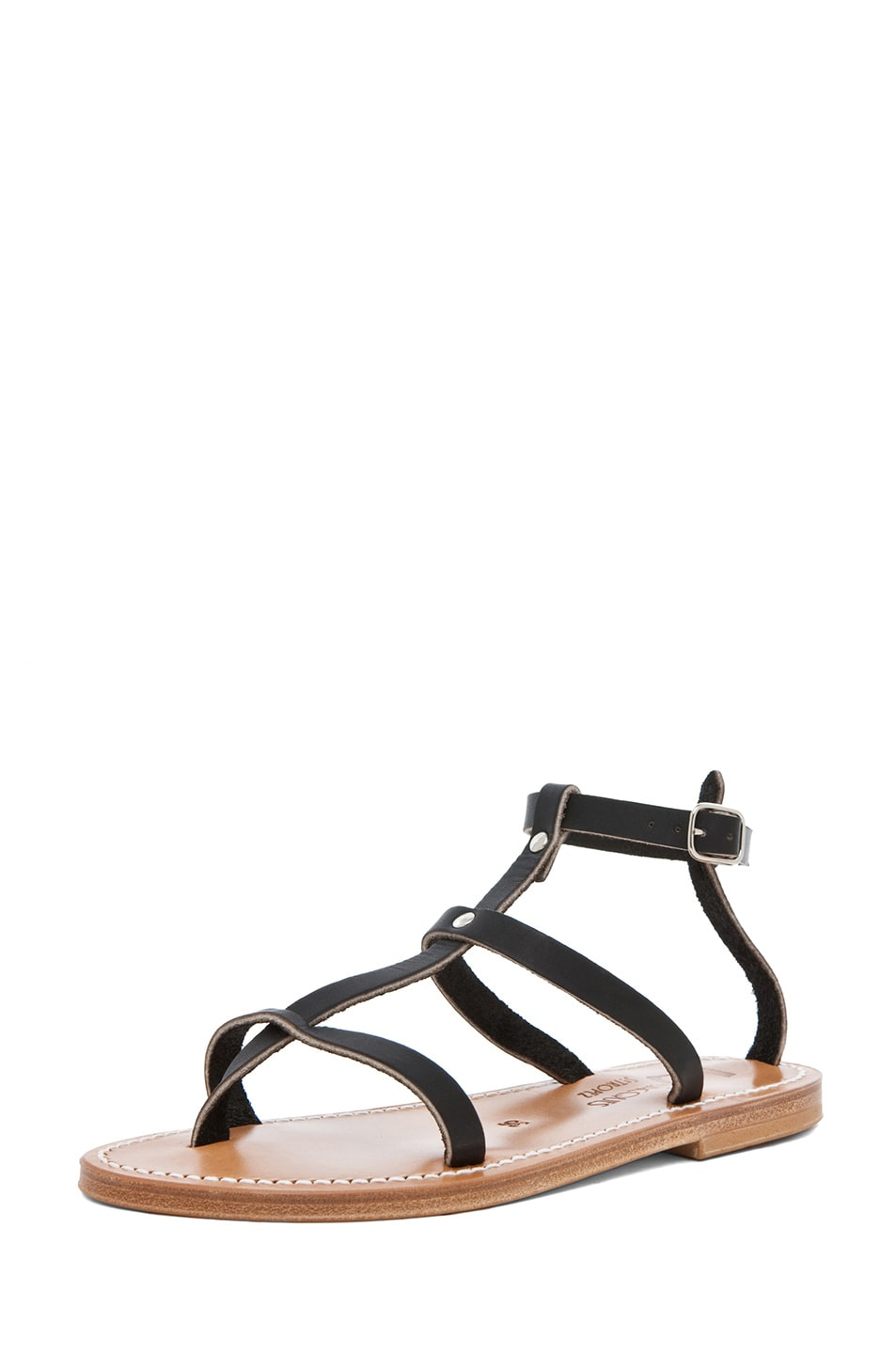 Image 2 of K Jacques Gina Gladiator Sandal in Black