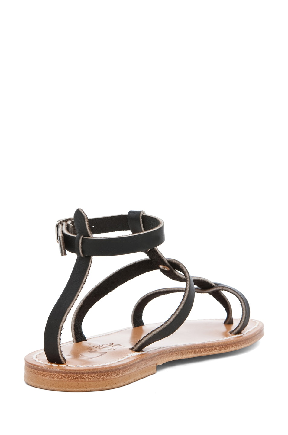 Image 3 of K Jacques Gina Gladiator Sandal in Black