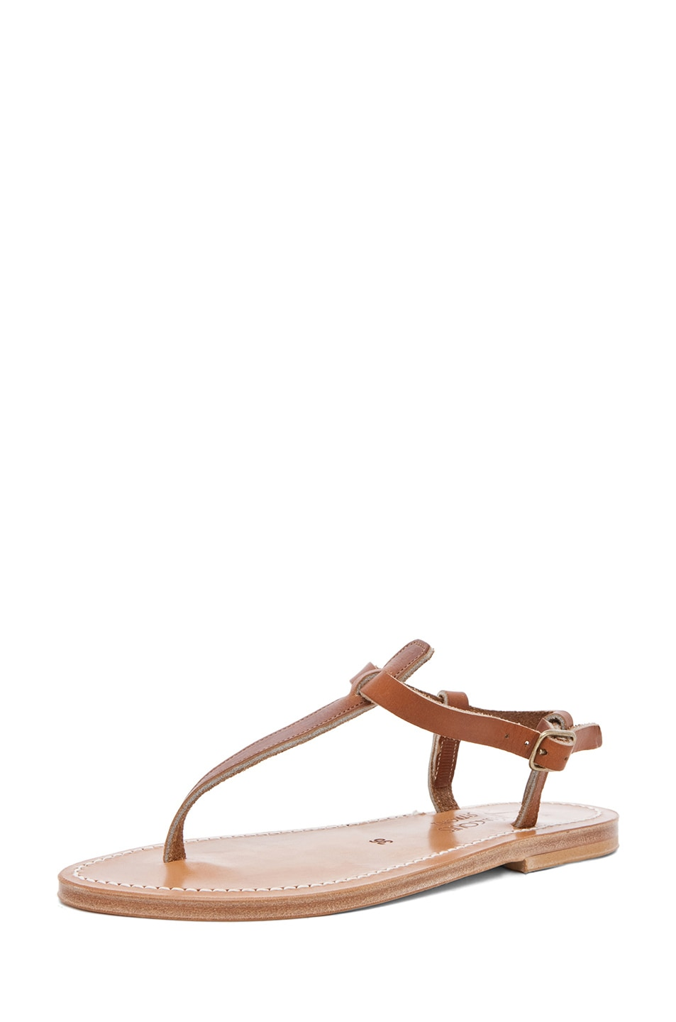 Image 2 of K Jacques Picon T Strap Sandals in Natural