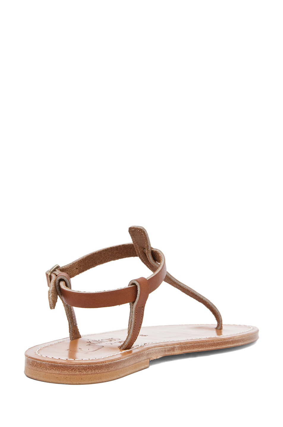 Image 3 of K Jacques Picon T Strap Sandals in Natural