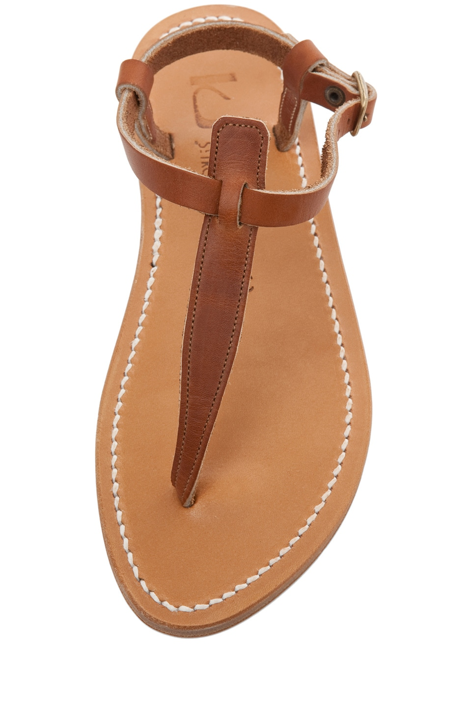 Image 4 of K Jacques Picon T Strap Sandals in Natural