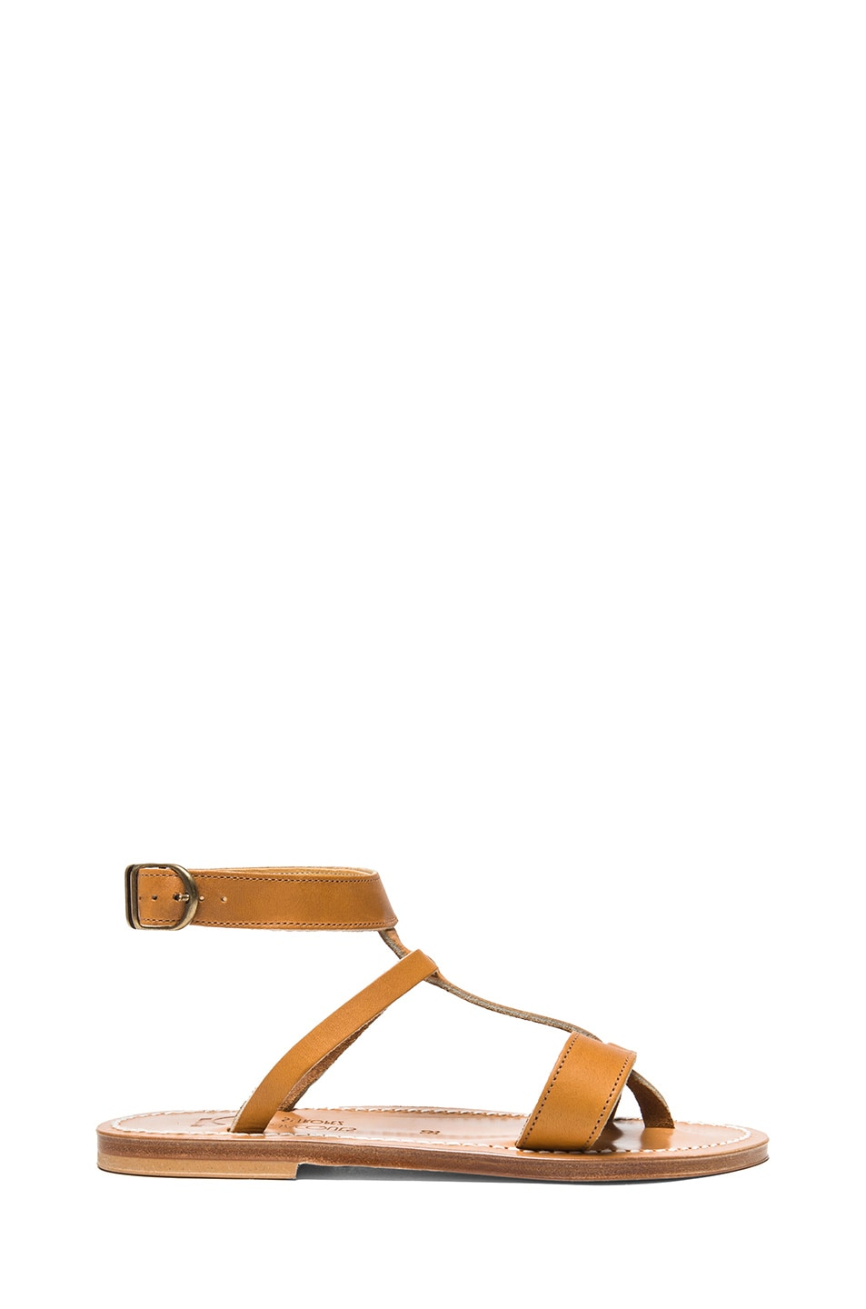 Image 1 of K Jacques Corvette Leather Sandals in Natural